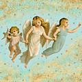 Angels Three Children Vintage by Joy McKenzie