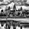 Angkor Wat Black Oil Paint  by Chuck Kuhn