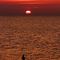 Angler In Summer Sunset by Heike Hultsch