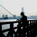 Angler In The Port City Of Kaohsiung by Yali Shi