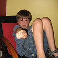Angry Boy Pointing The Accusing Finger by Christopher Purcell