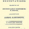 Animal Electricity, Title Page by Wellcome Images