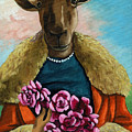 animal portrait - Flora Shepard by Linda Apple