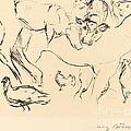 Animal Studies (verschiedene Tierstudien) by Lovis Corinth