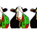 Animals Cows Three Pop Art Cows Warhol Style by Ann Powell