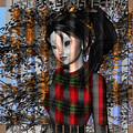 Anime Girl In Autumn by Judi Suni Hall