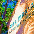 Anna Maria Elementary School Sign C131272 by Rolf Bertram