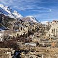 Annapurna And Brega Buddhist Monastery In Nepal by Didier Marti