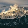 Annapurna Mountain Range In Evening Sunlight by Yuka Ogava
