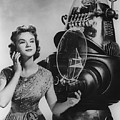 Anne Francis Movie Photo Forbidden Planet With Robby The Robot by R Muirhead Art