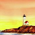 Annisquam Harbor Lighthouse - Summer Scene by Michael Vigliotti