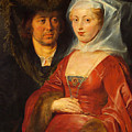 Ansegisus And Saint Bega by Peter Paul Rubens
