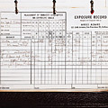 Ansel Adams Photography Exposure Record Log by Wingsdomain Art and Photography