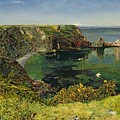 Anstey's Cove In Devon by John William Inchbold