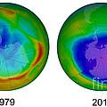 Antarctic Ozone Hole, 1979 And 2015 by Jessica Wilson/NASA