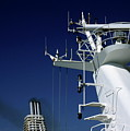 Antennas And Chimneys On A Large Ferry by Sami Sarkis