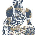 Anthony Davis New Orleans Pelicans Pixel Art 21 by Joe Hamilton