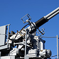 Anti Aircraft Turret Defense Guns On A Navy Ship by Olivier Le Queinec