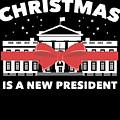 Anti Donald Trump Christmas Edition Vote For Dems Dark by Nikita Goel
