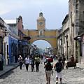 Antigua Street Scene by Kurt Van Wagner