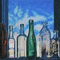 Antique Bottles At Dawn by Allan OMarra