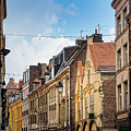 antique building view in Old Town Lille, France by Otto