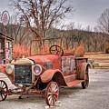 Antique Car And Filling Station 1 by Douglas Barnett
