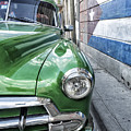 Antique Car And Mural 2 by Dan Leffel