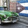 Antique Car And Mural by Dan Leffel