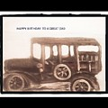 Antique Car For Dads Day by Barbara Searcy
