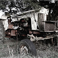 Antique Case Tractor by Patricia Montgomery