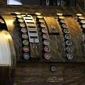 Antique Cash Register In Honey Brown Tones by Colleen Cornelius