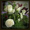 Antique Floral Arrangement Framed by Sandra Huston