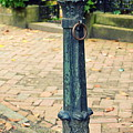 Antique Hitching Post by Linda Covino