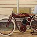 Antique Indian Motorcycle Red...   # by Rob Luzier