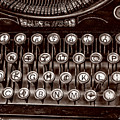 Antique Keyboard - Sepia by Christopher Holmes