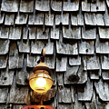 Antique Lamp And Wooden Tiles Frederick Maryland by James Brunker
