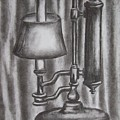 Antique Lamp In Charcoal by Alan Hogan