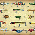Antique Lures Brown by JQ Licensing