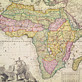 Antique Map Of Africa by Pieter Schenk