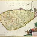 Antique Map Of Ceylon by Nicolas Visscher