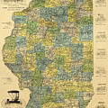 Antique Map Of Indianapolis By The Parry Mfg Company - Historical Map by Studio Grafiikka