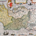 Antique Map of Ireland by  English School