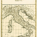 Antique Map Of Italy by Guillaume Raynal