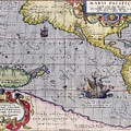 Antique Map Of The World By Abraham Ortelius - 1589 by Marianna Mills