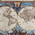 Antique Maps Of The World Joan Blaeu C 1662 by R Muirhead Art