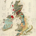 Antique Maps - Old Cartographic Maps - Antique Geological Map Of The British Islands by Studio Grafiikka