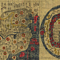 Antique Maps - Old Cartographic Maps - Antique Map Chinese Map Of The World, Ming Era by Studio Grafiikka