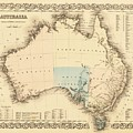 Antique Maps - Old Cartographic Maps - Antique Map Of Australia by Studio Grafiikka