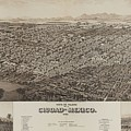 Antique Maps - Old Cartographic Maps - Antique Map Of Ciudad, Mexico, 1890 by Studio Grafiikka